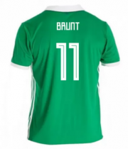 Northern Ireland Jersey 2018 World Cup Home Soccer Shirt #11 Brunt