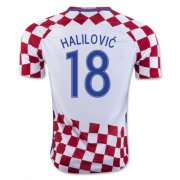 Croatia 2016-17 Home Soccer Shirt #18 Halilovic