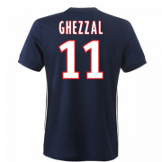 Lyon 2017/18 Away Soccer Shirt #11 Ghezzal