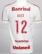 Brazil International Jersey 2015/16 White Soccer Shirt #12 ALEX