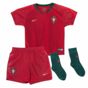 Kids 2018 Portugal Home Jersey Whole Kit