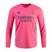 Real Madrid 20-21 Long Sleeve Jersey Away Pink Soccer Shirt