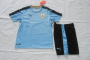 Uruguay Youth Jerseys 2016/17 Home Soccer Shirt Kids Kit