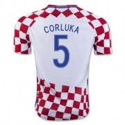 Croatia 2016-17 Home Soccer Shirt #5 Corluka