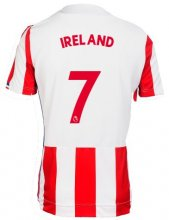 Stoke City Jersey 2017/18 Home Soccer Shirt Jersey #7 Ireland