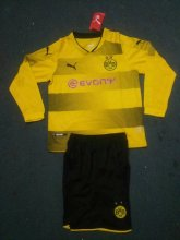 Dortmund Jersey 2017/18 Home LS Soccer Kids Kit