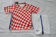 Croatia Youth Jersey 2016-17 Home Soccer Shirt Kids Kit