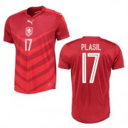 Czech Jersey 2016 Home Red Soccer Shirt #17 Plasil
