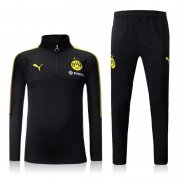 Dortmund Jersey 2017/18 Black Soccer Hoodies Uniform