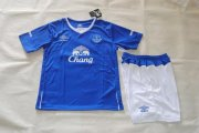 Everton Youth Jersey 2015/16 Home Soccer Shirt Kids Kits