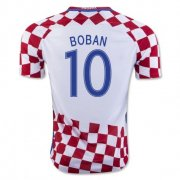 Croatia 2016-17 Home Soccer Shirt #10 Boban
