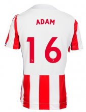 Stoke City Jersey 2017/18 Home Soccer Shirt Jersey #16 Adam