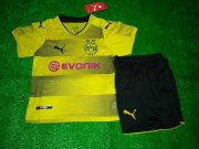 Dortmund Jersey 2017/18 Home Soccer Kids Kit