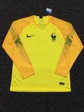 France 2018 World Cup GoalKeeper Yellow Long Sleeve Soccer Jersey