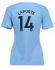 Manchester City Jersey 2017/18 Home Women Soccer Shirts #14 Laporte