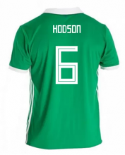 Northern Ireland Jersey 2018 World Cup Home Soccer Shirt #6 Hodson
