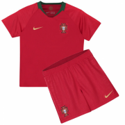 Kids 2018 Portugal Home Jersey Kits