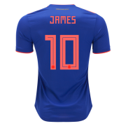 Colombia 2018 James Rodriguez #10 Away Soccer Shirt