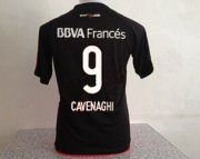 River Plate Jersey 2015/16 Away Black Soccer Shirt #9 CAVENAGHI