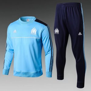 Marseille Jersey 2017/18 Blue Soccer Sweater Hoodies Uniform