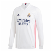 Real Madrid 20-21 Long Sleeve Jersey Home White Soccer Shirt
