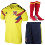 Colombia 2018 World Cup Home Whole kit (Shirt+Shorts+Socks)