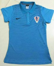 Croatia 2016 Euro Women's Soccer POLO Shirt
