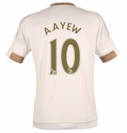 Swansea City Jersey 2015/16 Home Soccer Shirt #10 A.AYEW