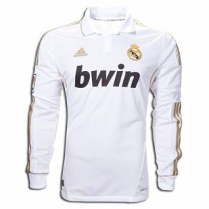Real Madrid 11-12 Home Long Sleeve Retro Soccer Jersey