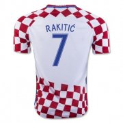 Croatia 2016-17 Home Soccer Shirt #7 Rakitic