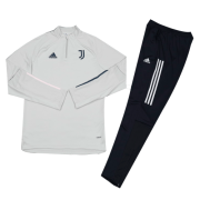 Youth Juventus 20-21 Grey Training Tracksuit ( Top+Trouser )