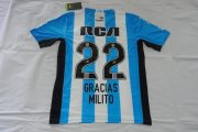 Argentina Racing Jersey 2016/17 Home Soccer Shirt #22 MILITO