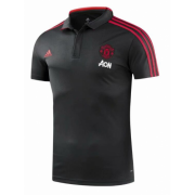 Manchester United 18-19 Black Polo