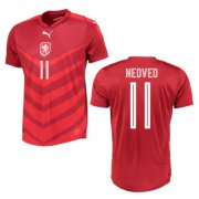Czech Jersey 2016 Home Red Soccer Shirt #11 Nedved