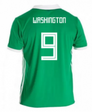 Northern Ireland Jersey 2018 World Cup Home Soccer Shirt #9 Washington