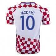 Croatia 2016-17 Home Soccer Shirt #10 Modric
