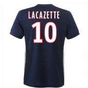 Lyon 2017/18 Away Soccer Shirt #10 Lacazette