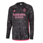 Real Madrid 20-21 Long Sleeve Jersey Third Black Soccer Shirt