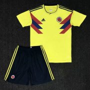 Colombia Youth Jersey 2018 World Cup Home Soccer Shirt Kids Kit