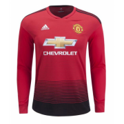 Manchester United 18-19 Long Sleeve Home Soccer Jersey