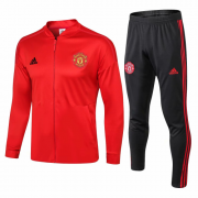 Manchester United 18-19 Red Stripe Tracksuit