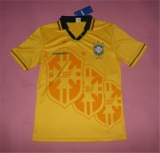 Brazil 2016/17 Home Yellow Commemorative Soccer Jersey