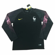 France 2018 World Cup GoalKeeper Black Long Sleeve Soccer Jersey