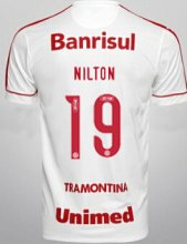 Brazil International Jersey 2015/16 White Soccer Shirt #19 NILTON