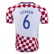 Croatia 2016-17 Home Soccer Shirt #6 Lovren