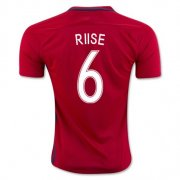Norway Jersey 2016/17 Home Soccer Shirt #6 Riise