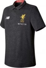 Liverpool Jersey 2017/18 Grey Soccer POLO Shirt