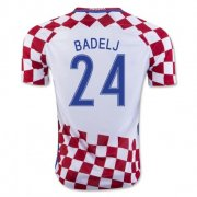 Croatia 2016-17 Home Soccer Shirt #24 Badelj