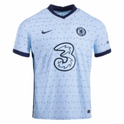Chelsea 20-21 Away Light Blue Soccer Jersey Shirt (Player Version)