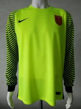 China Jersey 2016/17 Green LS Goalkeeper Soccer Shirt